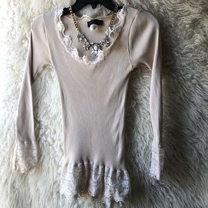 Cream colored - long sleeved shirt - size small